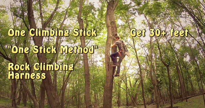 One Stick Climbing Method